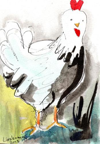 Kippen schetsen